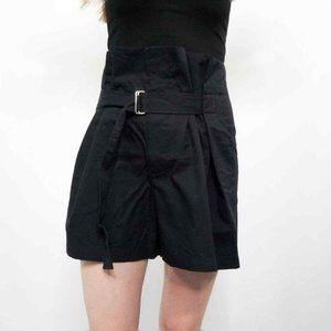 TOTOKAELO Paperbag Waist Belted Shorts Black S